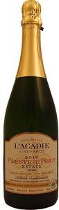 L'acadie Vineyards Prestige Brut Estate Méthode Traditionelle 2014 Bottle