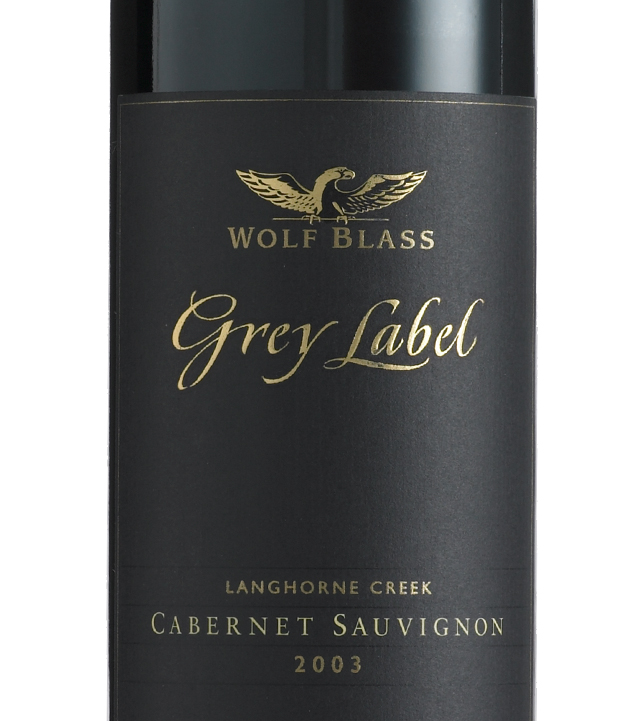 It is a picture of Universal Wolf Blass Grey Label Cabernet Sauvignon