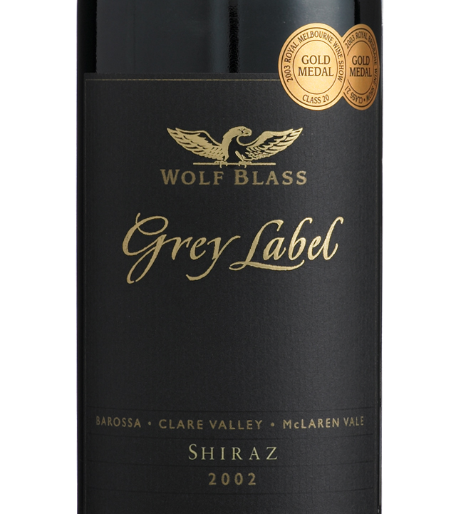 It's just a graphic of Critical Wolf Blass Grey Label Cabernet Sauvignon