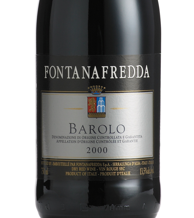 This is a graphic of Remarkable Barolo Fontanafredda Silver Label Piedmont