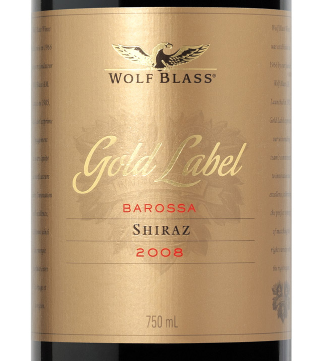 It's just an image of Crazy Wolf Blass Barossa Shiraz Sapphire Label