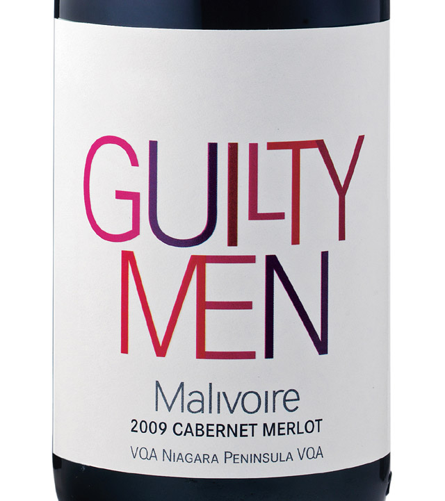 Guilty Men Label Malivoire Guilty Men