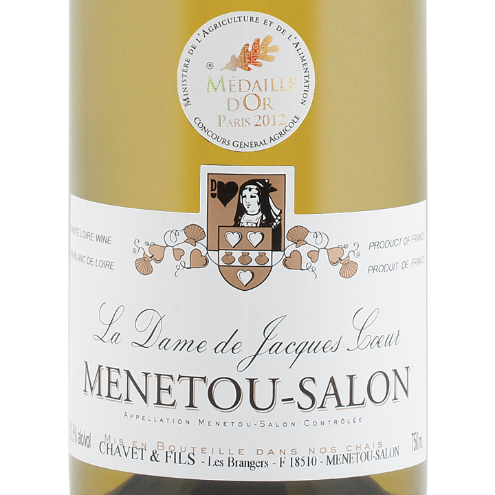 Chavet fils la dame de jacques coeur menetou salon blanc 2012 ac winealign for Salon blanc de blanc